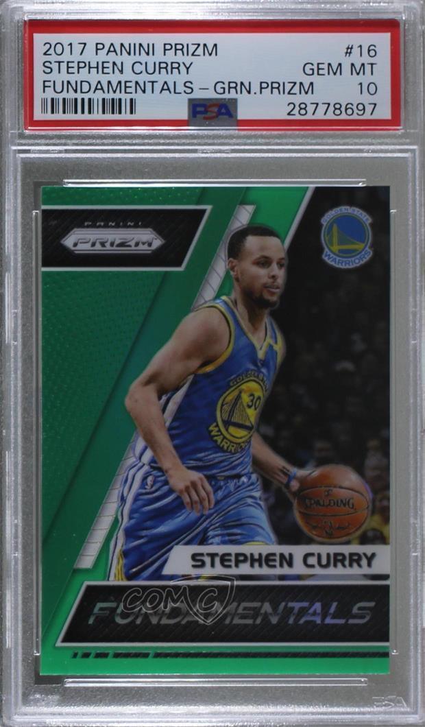 Verzamelkaarten, ruilkaarten 2017-18 Panini Prizm Fundamentals #16 Stephen Curry Golden State Warriors