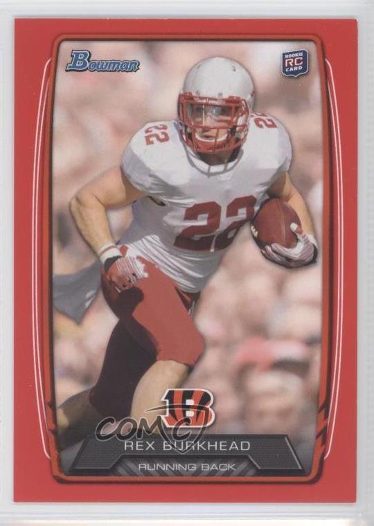 size 40 22da0 d68fe Details about 2013 Bowman Red/199 #144 Rex Burkhead Cincinnati Bengals  Nebraska Cornhuskers