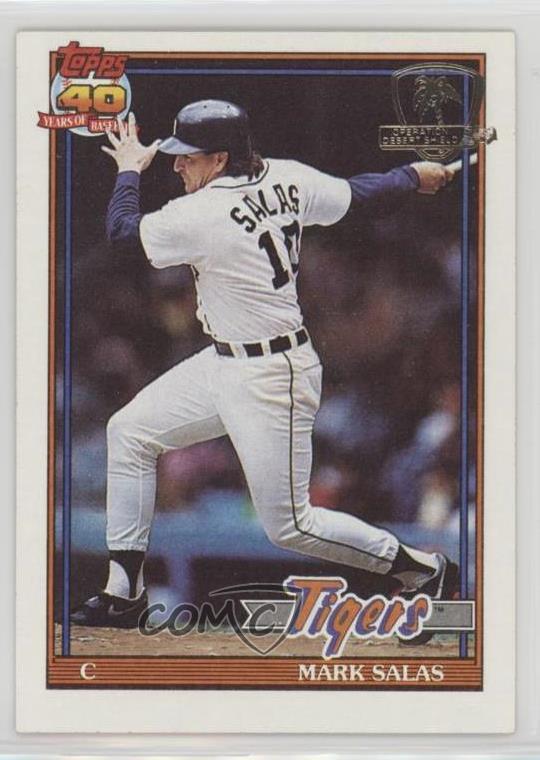 Details About 1991 Topps Operation Desert Shield 498 Mark Salas Detroit Tigers Baseball Card
