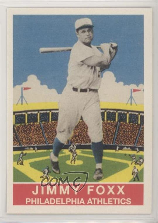 Details About 2011 Topps Cmg Worldwide Vintage Reprints Cmgr 16 Jimmie Foxx Baseball Card