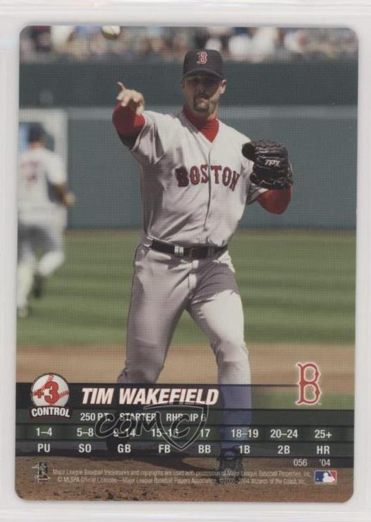 Details About 2004 Mlb Showdown 056 Tim Wakefield Boston Red Sox Baseball Card