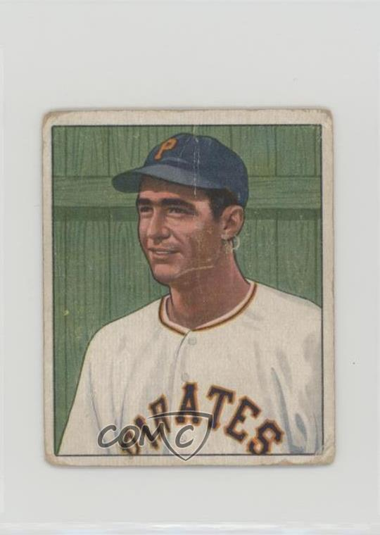 Details About 1950 Bowman 123 Dino Restelli Pittsburgh Pirates Rc Rookie Baseball Card