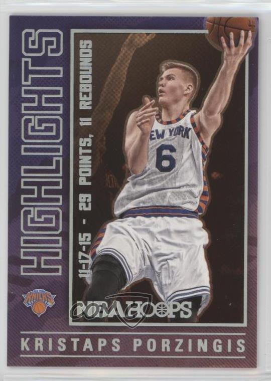 2016-17 Panini NBA Hoops Dreams #9 Kristaps Porzingis New York Knicks Card Verzamelkaarten, ruilkaarten Verzamelingen
