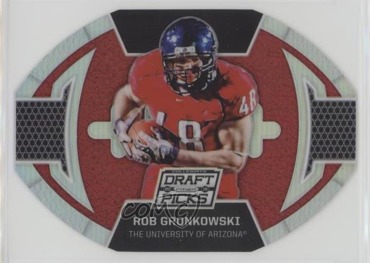 Verzamelkaarten, ruilkaarten Verzamelingen 2016 Panini Prizm Collegiate Draft Picks Red Prizms #85 Rob Gronkowski Card