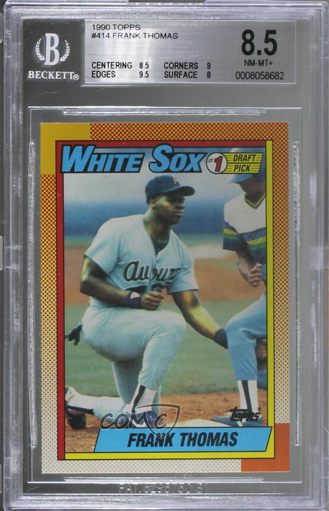 c0df7bc4a 1990 Topps -  Base   414.1 Frank Thomas. Representative Image - Select  Specific Item above to see image of actual item