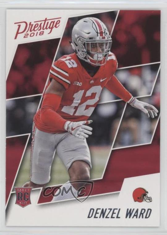 best cheap a876a b4fb5 Details about 2018 Panini Prestige #275 Denzel Ward Cleveland Browns Ohio  State Buckeyes RC