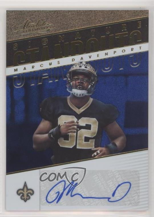 2018 Panini Absolute - Signature Standouts - Spectrum Blue  SS-MD Marcus  Davenport. Representative Image - Select Specific Item above to see image  of actual ... d56a74277