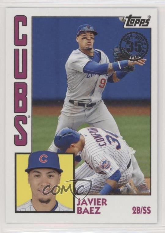 Details About 2019 Topps 1984 Baseball T84 5 Javier Baez Chicago Cubs Card