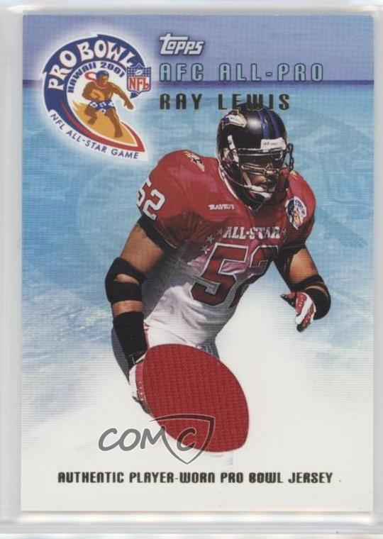 timeless design 19184 c0e5c Details about 2001 Topps Pro Bowl Jerseys #TP-RL Ray Lewis Baltimore Ravens  Football Card