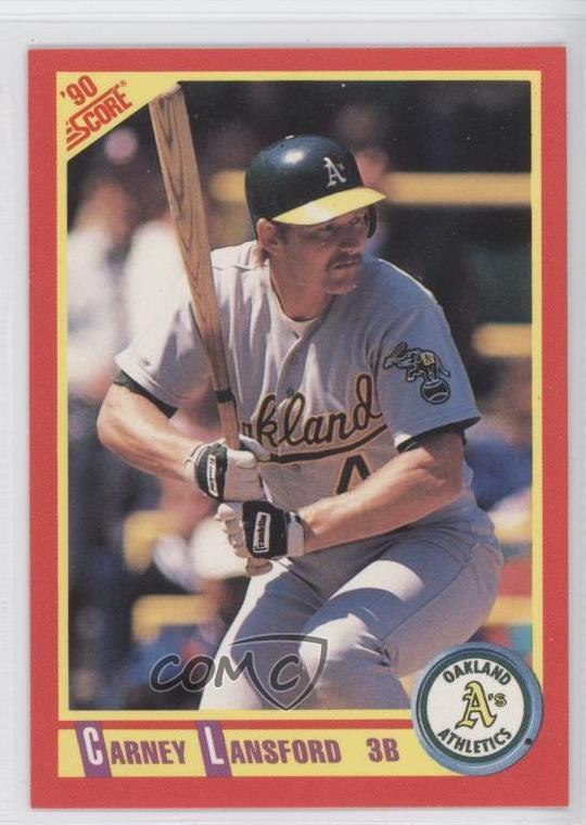 Details About 1990 Score 296 Carney Lansford Oakland Athletics Baseball Card