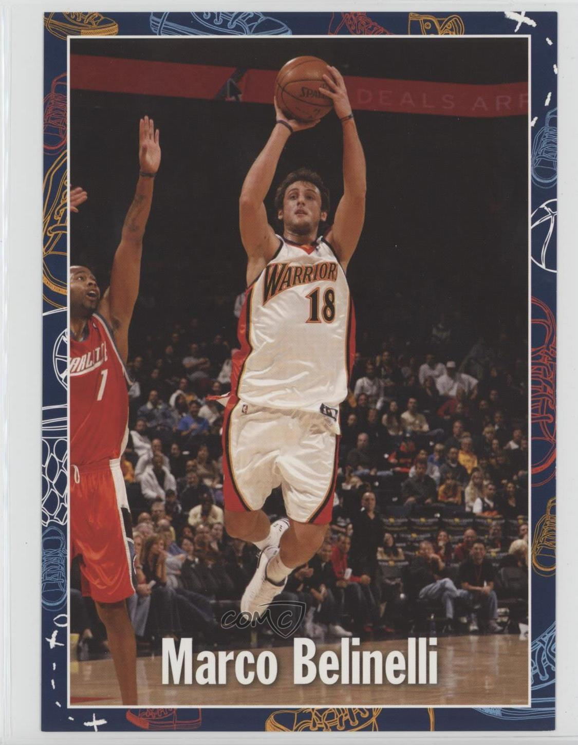 super popular f0d0e ff657 Details about 2007-08 Golden State Warriors Read to Achieve Marco Belinelli  Rookie Card