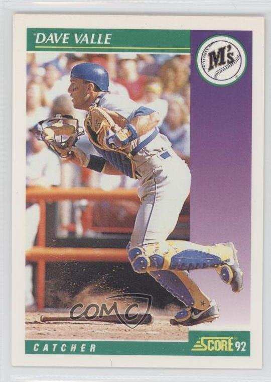 Details About 1992 Score 343 Dave Valle Seattle Mariners Baseball Card