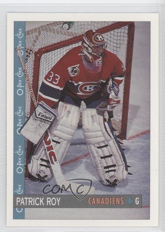 1992 93 O Pee Chee 164 Patrick Roy Montreal Canadiens Hockey Card