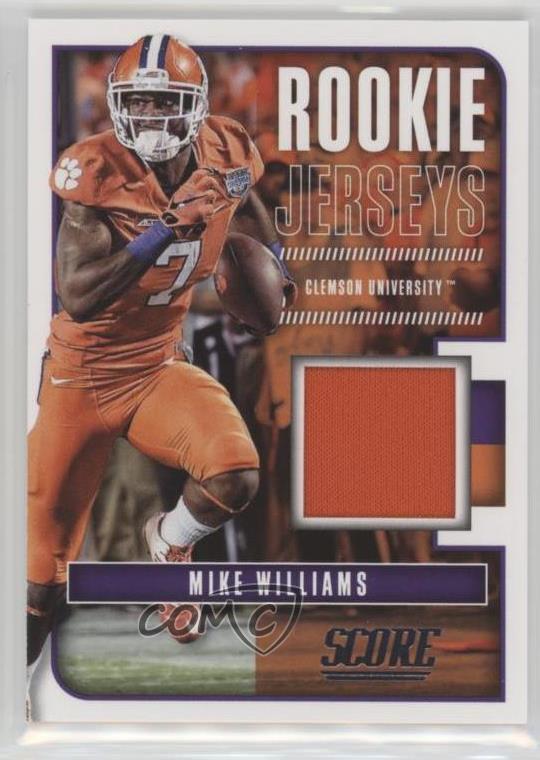 size 40 0d5af 61e7c Details about 2017 Score Rookie Jerseys #12 Mike Williams Clemson Tigers  Football Card