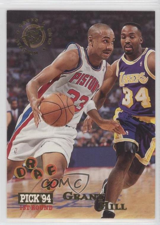 Details About 1994 95 Topps Stadium Club 195 Grant Hill Detroit Pistons Rc Rookie Card