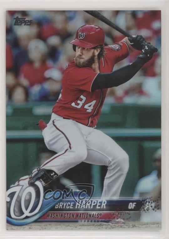Details About 2018 Topps Rainbow Foil 351 Bryce Harper Washington Nationals Baseball Card