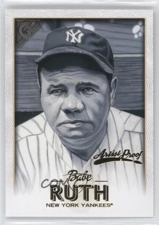 Details About 2018 Topps Gallery Artist Proof 150 Babe Ruth New York Yankees Baseball Card