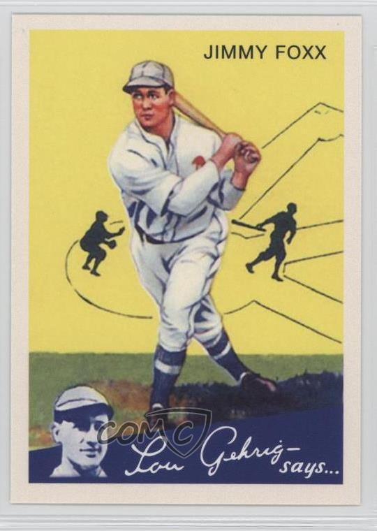Details About 2011 Topps Cmg Worldwide Vintage Reprints Cmgr 15 Jimmie Foxx Baseball Card