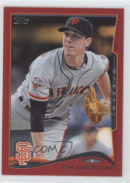 Details About 2014 Topps Target Red 397 Tim Lincecum San Francisco Giants Baseball Card