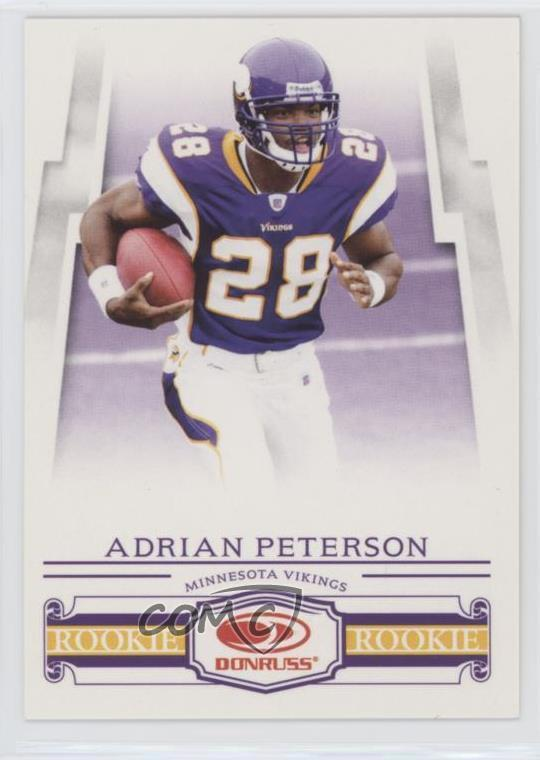Details About 2007 Donruss Frito Lay 1 Rookies Adrian Peterson Minnesota Vikings Rookie Card