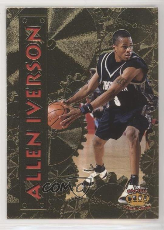 Details About 1996 97 Pacific Power Pp 20 Allen Iverson Georgetown Hoyas Rookie Card