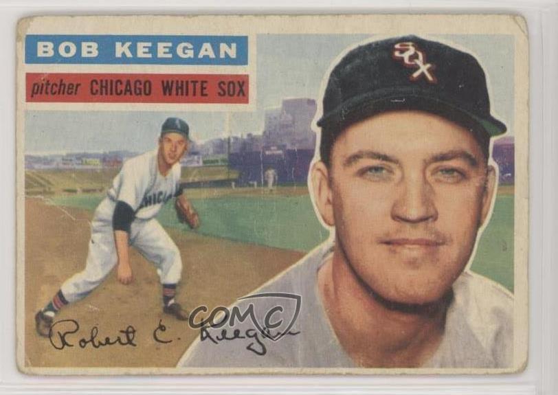 Details About 1956 Topps 541 Bob Keegan Gray Back Chicago White Sox Baseball Card