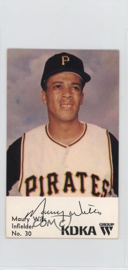 Details About 1968 Kdka Pittsburgh Pirates 30 Maury Wills Baseball Card