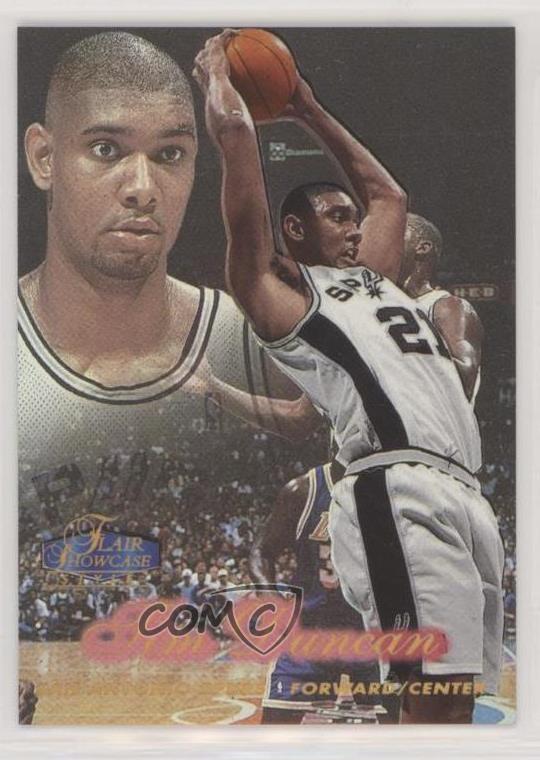 Details About 1997 98 Flair Showcase Row 2 5 Tim Duncan San Antonio Spurs Rookie Card
