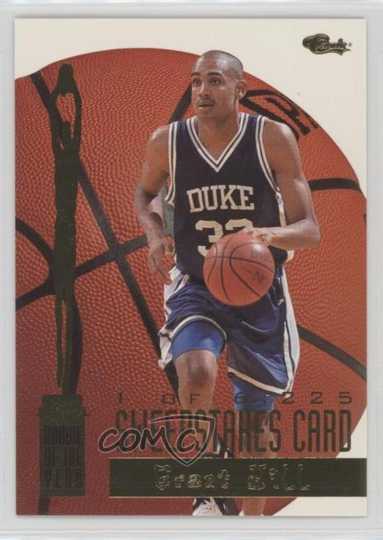 Details About 1994 Classic Rookie Of The Year Sweepstakes6225 3 Grant Hill Duke Blue Devils