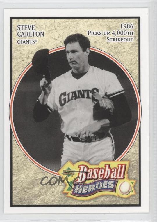 Details About 2005 Upper Deck Baseball Heroes 79 Steve Carlton San Francisco Giants Card