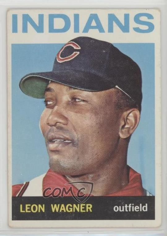 1964 Topps 530 Leon Wagner Cleveland Indians Baseball Card Ebay