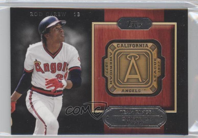 2012 Topps Gold Team Rings #GTR-RCA Rod Carew Los Angeles Angels Baseball Card Verzamelkaarten, ruilkaarten