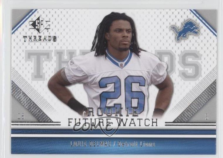 2009 SP Threads #161 Louis Delmas Detroit Lions Rookie Football Card