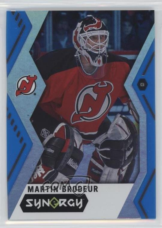 new product 38b5a e47b4 Details about 2017-18 Upper Deck Synergy Blue #42 Martin Brodeur New Jersey  Devils Hockey Card