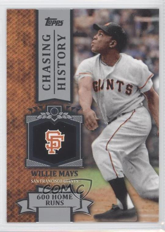 Details About 2013 Topps Chasing History Ch 47 Willie Mays San Francisco Giants Baseball Card