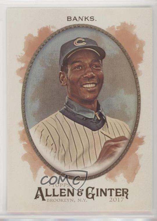2017 Topps Allen /& Ginter/'s Mini #161 Ernie Banks Chicago Cubs Baseball Card