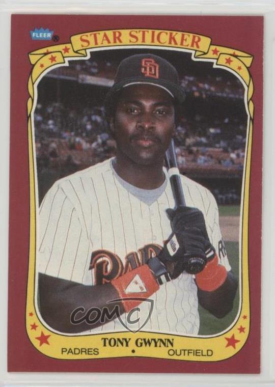 Details About 1986 Fleer Star Stickers 50 Tony Gwynn San Diego Padres Baseball Card