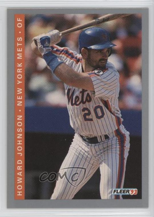 Details About 1993 Fleer 89 Howard Johnson New York Mets Baseball Card