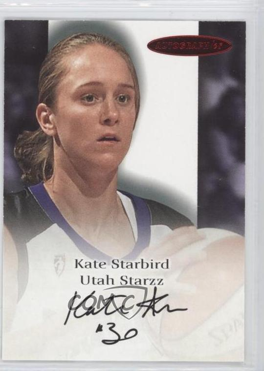 2000 Skybox Dominion WNBA Autographics Autographed #KAST Kate Starbird Auto Card