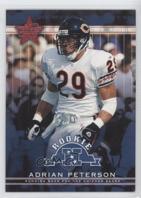 Details About 2002 Leaf Rookies Stars 101 Adrian Peterson Chicago Bears Rookie Card