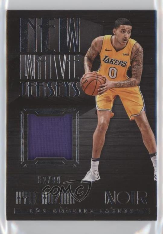 094ac3181ac 2017-18 Panini Noir - New Wave Jerseys  NW-KK Kyle Kuzma. Representative  Image - Select Specific Item above to see image of actual item