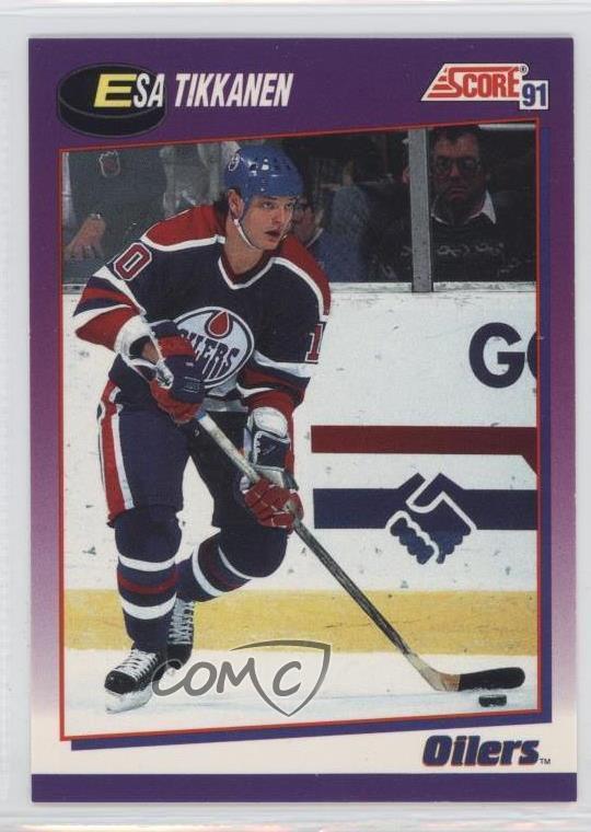 on sale 8b0c4 408e0 Details about 1991-92 Score American #241 Esa Tikkanen Edmonton Oilers  Hockey Card