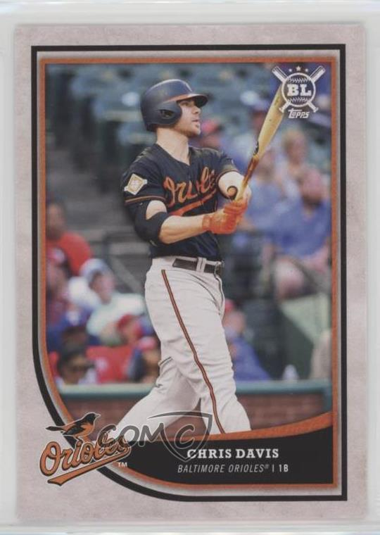 Details About 2018 Topps Big League 158 Chris Davis Baltimore Orioles Baseball Card