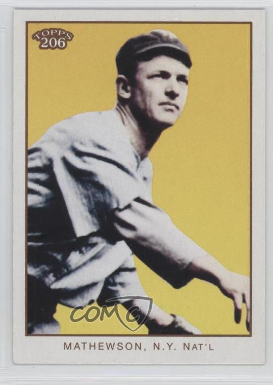 Details About 2009 Topps 206 2371 Christy Mathewson Pitching New York Giants Baseball Card