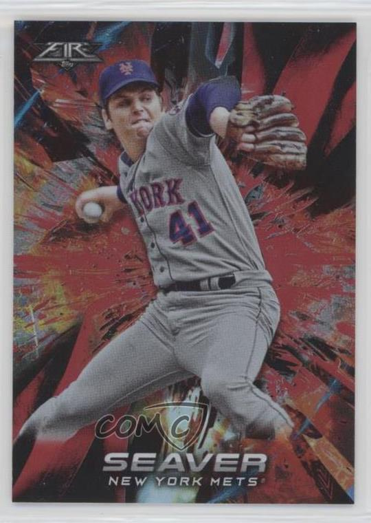 Details About 2018 Topps Fire Flame 130 Tom Seaver New York Mets Baseball Card