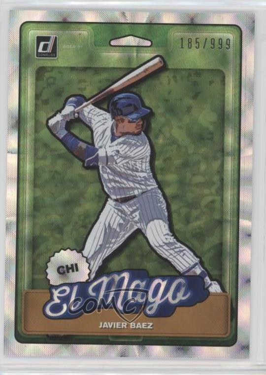 Details About 2019 Panini Donruss Nicknames999 N4 Javier Baez Chicago Cubs Baseball Card