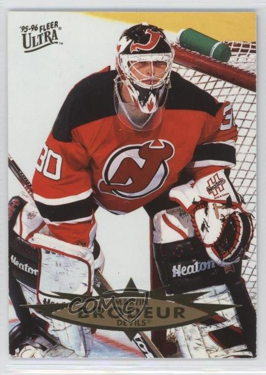 1995 96 Fleer Ultra 86 Martin Brodeur New Jersey Devils Hockey Card