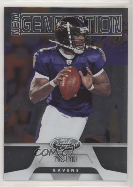 promo code da973 7e2ae Details about 2011 Certified/999 #248 Tyrod Taylor Baltimore Ravens RC  Rookie Football Card
