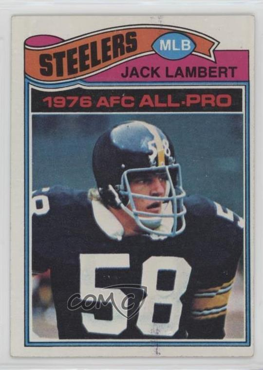 e25c3464359  480 Jack Lambert. Representative Image - Select Specific Item above to see  image of actual item