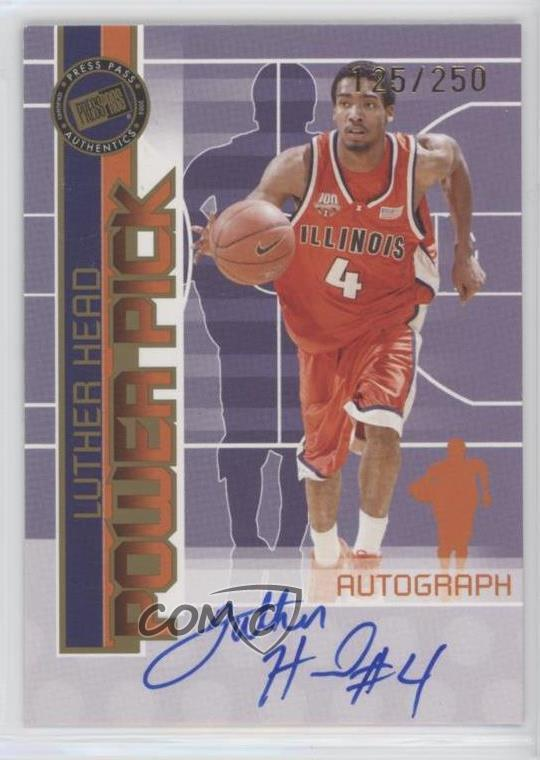 2005-06 Upper Deck Rookie Debut Ink #DI-LH Luther Head Houston Rockets Auto Card Verzamelkaarten: sport